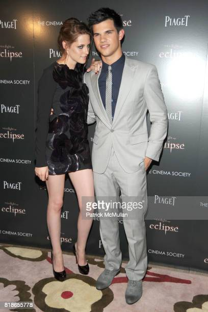 Kristen Stewart and Taylor Lautner attend THE CINEMA SOCIETY PIAGET host a screening of 'THE TWILIGHT SAGA ECLIPSE' at Crosby Street Hotel on June 28...