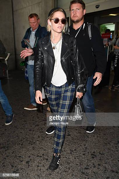 Kristen Stewart arrives at Nice airport during the annual 69th Cannes Film Festival at Nice Airport on May 9 2016 in Nice France