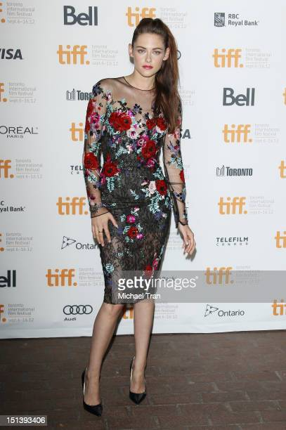 Kristen Stewart arrives at On The Road premiere during the 2012 Toronto International Film Festival held at Ryerson Theatre on September 6 2012 in...