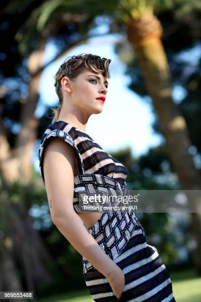 Kristen Stewart arrives at the amfAR Gala Cannes 2018 at Hotel du CapEdenRoc on May 17 2018 in Cap d'Antibes France