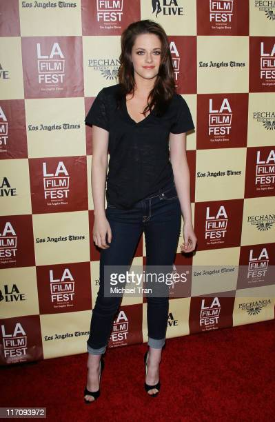 Kristen Stewart arrives at the Los Angeles premiere of 'A Better Life' during the 2011 Los Angeles Film Festival held at Regal Cinemas LA Live on...