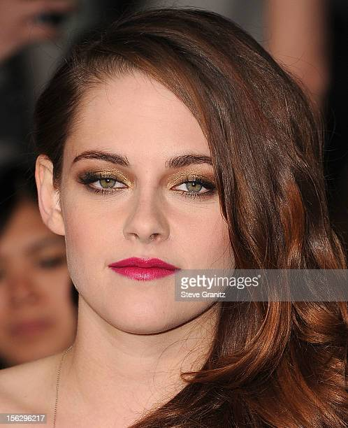 Kristen Stewart arrives at the 'The Twilight Saga Breaking Dawn Part 2' Los Angeles Premiere at Nokia Theatre LA Live on November 12 2012 in Los...