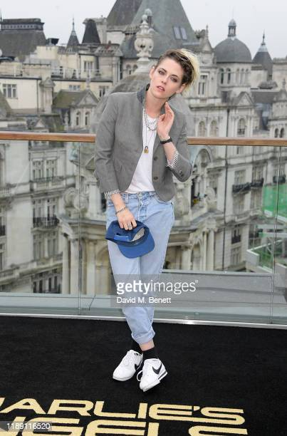 Kristen Stewart attends a photocall for Charlie's Angels at The Corinthia Hotel London on November 21 2019 in London England