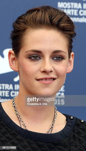 Kristen Stewart attends a photocall for 'Equals' during the 72nd Venice Film Festival at Palazzo del Casino on September 5 2015 in Venice Italy