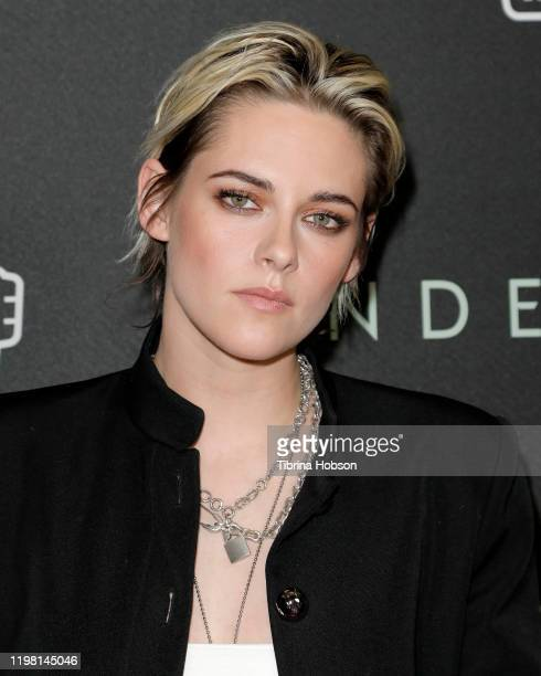 """Kristen Stewart attends a special fan screening of 20th Century Fox's """"Underwater"""" at Alamo Drafthouse Cinema on January 07, 2020 in Los Angeles,..."""