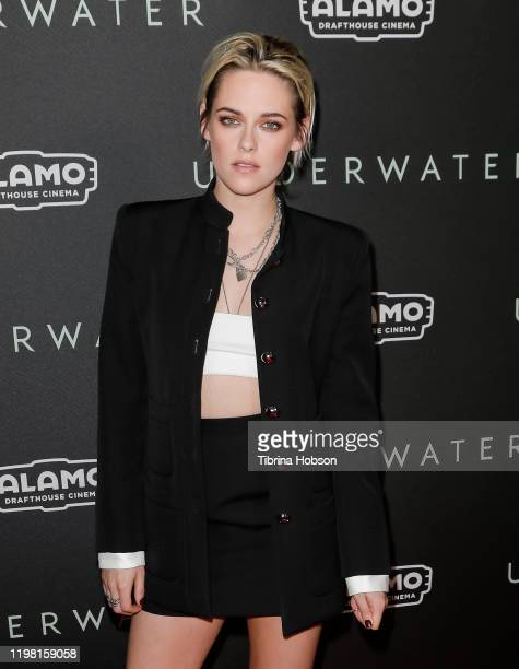 "Kristen Stewart attends a special fan screening of 20th Century Fox's ""Underwater"" at Alamo Drafthouse Cinema on January 07, 2020 in Los Angeles,..."