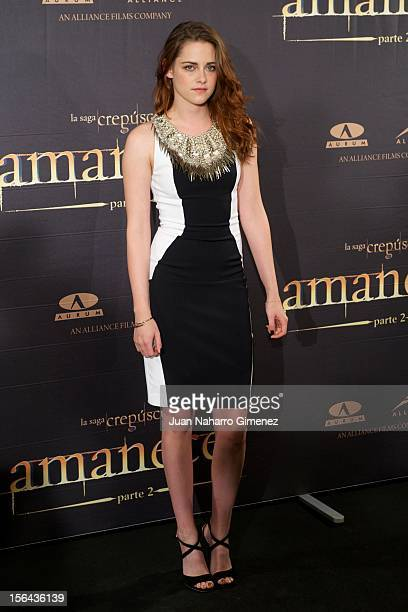 "Kristen Stewart attends ""Amanecer - Parte 2"" at Villa Magna Hotel on November 15, 2012 in Madrid, Spain."