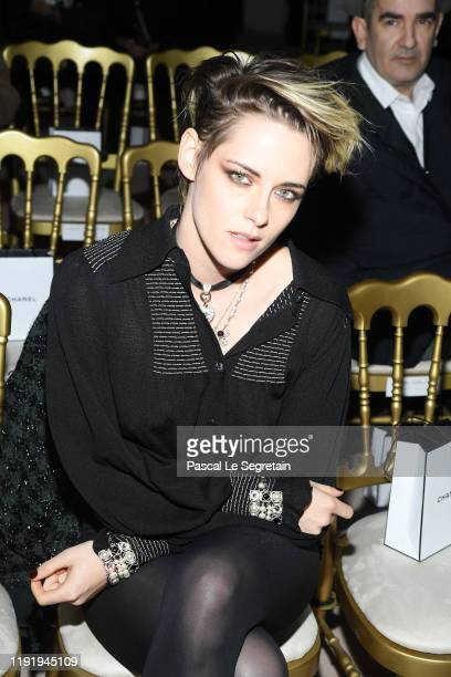 Kristen Stewart attends Chanel Metiers d'art 2019-2020 show at Le Grand Palais on December 04, 2019 in Paris, France.