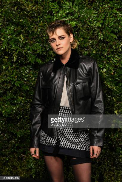 Kristen Stewart attends Charles Finch And Chanel PreOscar Awards Dinner At Madeo in Beverly Hills at Madeo Restaurant on March 3 2018 in Los Angeles...