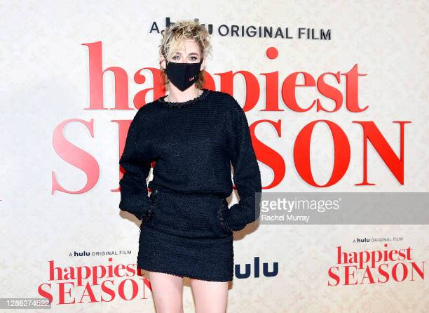 "Kristen Stewart attends Hulu ""Happiest Season"" Drive-In Premiere at The Grove on November 17, 2020 in Los Angeles, California."