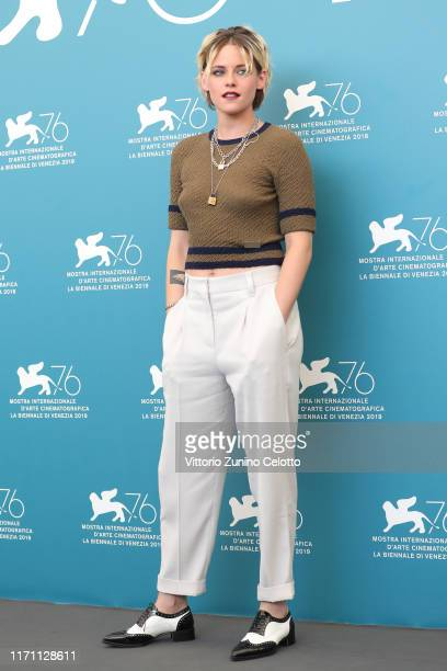 Kristen Stewart attends Seberg photocall during the 76th Venice Film Festival at Sala Grande on August 30 2019 in Venice Italy