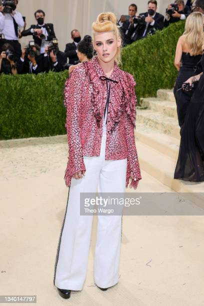 Kristen Stewart attends The 2021 Met Gala Celebrating In America: A Lexicon Of Fashion at Metropolitan Museum of Art on September 13, 2021 in New...