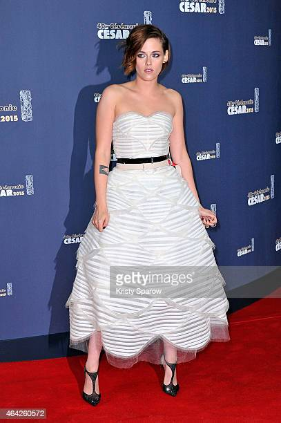 Kristen Stewart attends the 40th Cesar Film Awards at Theatre du Chatelet on February 20 2015 in Paris France