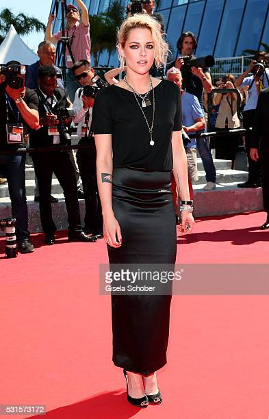 Kristen Stewart attends the American Honey premiere during the 69th annual Cannes Film Festival at the Palais des Festivals on May 15 2016 in Cannes...