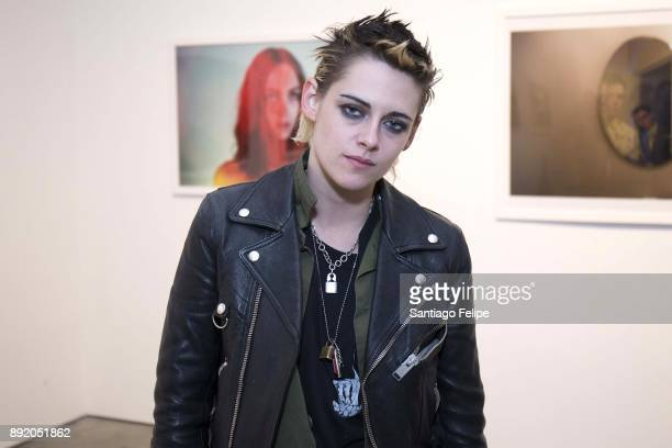 Kristen Stewart attends the 'Anton Yelchin Provocative Beauty' Opening Night Exhibition at De Buck Gallery on December 13 2017 in New York City