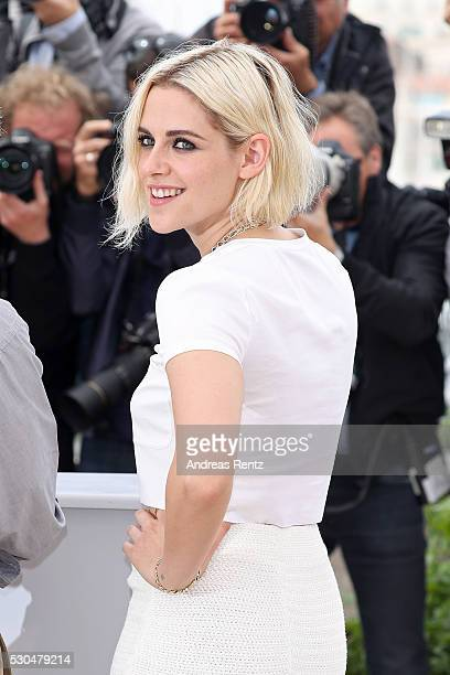 Kristen Stewart attends the Cafe Society Photocall during The 69th Annual Cannes Film Festival on May 11 2016 in Cannes France