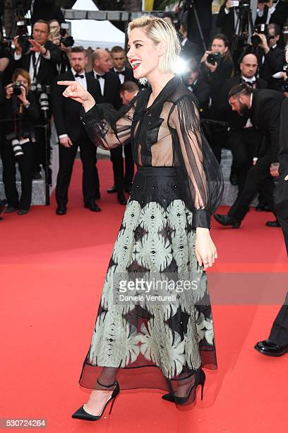 Kristen Stewart attends the 'Cafe Society' premiere and the Opening Night Gala during the 69th annual Cannes Film Festival at the Palais des...