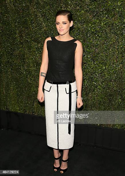 Kristen Stewart attends the Chanel And Charles Finch PreOscar Dinner at Madeo Restaurant on February 21 2015 in West Hollywood California