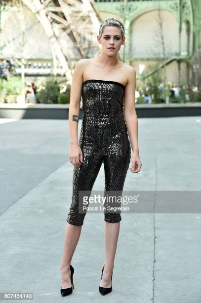 Kristen Stewart attends the Chanel Haute Couture Fall/Winter 20172018 show as part of Haute Couture Paris Fashion Week on July 4 2017 in Paris France