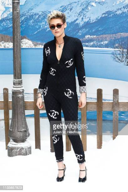 Kristen Stewart attends the Chanel show as part of the Paris Fashion Week Womenswear Fall/Winter 2019/2020 on March 05 2019 in Paris France