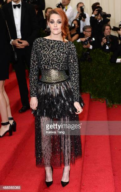 Kristen Stewart attends the 'Charles James Beyond Fashion' Costume Institute Gala held at the Metropolitan Museum of Art on May 5 2014 in New York...