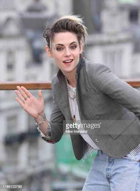 "Kristen Stewart attends the ""Charlie's Angels"" photocall at The Corinthia Hotel on November 21, 2019 in London, England."
