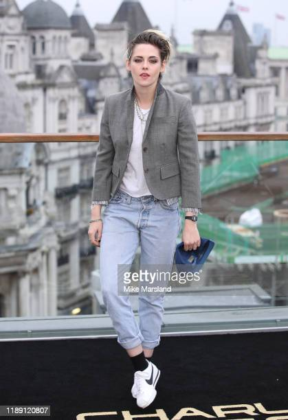 Kristen Stewart attends the Charlie's Angels photocall at The Corinthia Hotel on November 21 2019 in London England