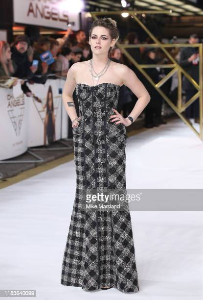"""Kristen Stewart attends the """"Charlies Angels"""" UK Premiere at The Curzon Mayfair on November 20, 2019 in London, England."""