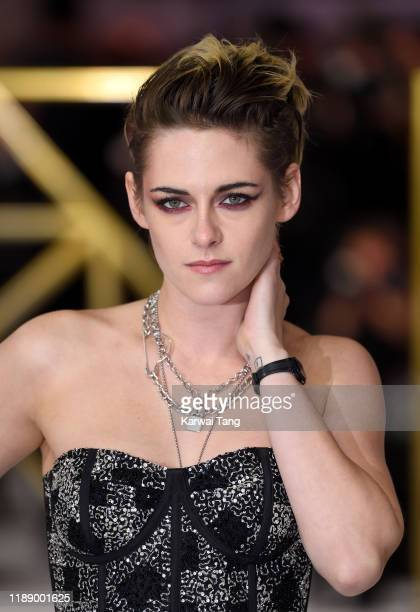 """Kristen Stewart attends the """"Charlie's Angels"""" UK Premiere at The Curzon Mayfair on November 20, 2019 in London, England."""