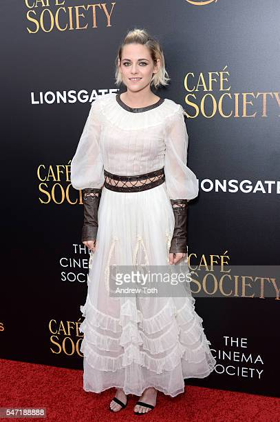 Kristen Stewart attends the Cinema Society screening of 'Cafe Society' at Paris Theatre on July 13 2016 in New York City