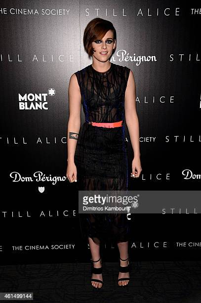 Kristen Stewart attends The Cinema Society with Montblanc and Dom Perignon screening of Sony Pictures Classics' Still Alice at Landmark's Sunshine...