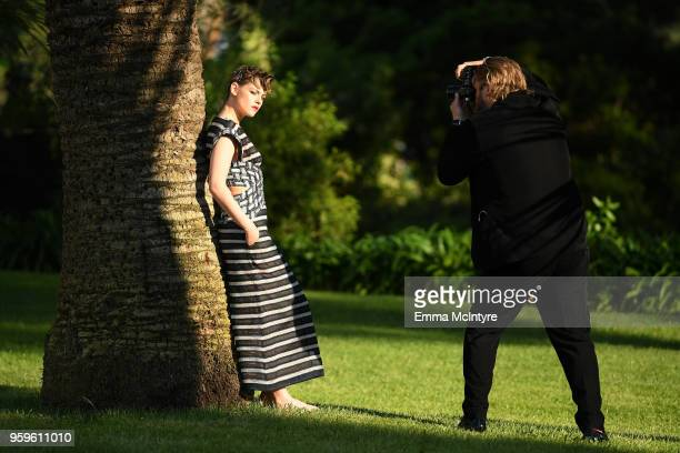 Kristen Stewart attends the cocktail at the amfAR Gala Cannes 2018 at Hotel du CapEdenRoc on May 17 2018 in Cap d'Antibes France