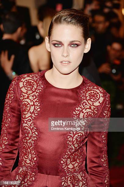 """Kristen Stewart attends the Costume Institute Gala for the """"PUNK: Chaos to Couture"""" exhibition at the Metropolitan Museum of Art on May 6, 2013 in..."""