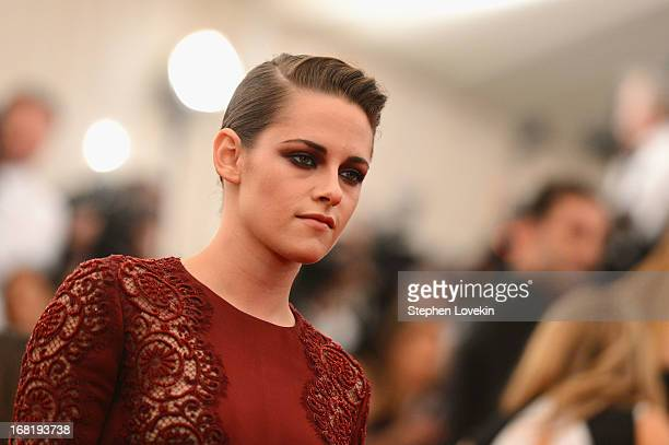 Kristen Stewart attends the Costume Institute Gala for the 'PUNK Chaos to Couture' exhibition at the Metropolitan Museum of Art on May 6 2013 in New...