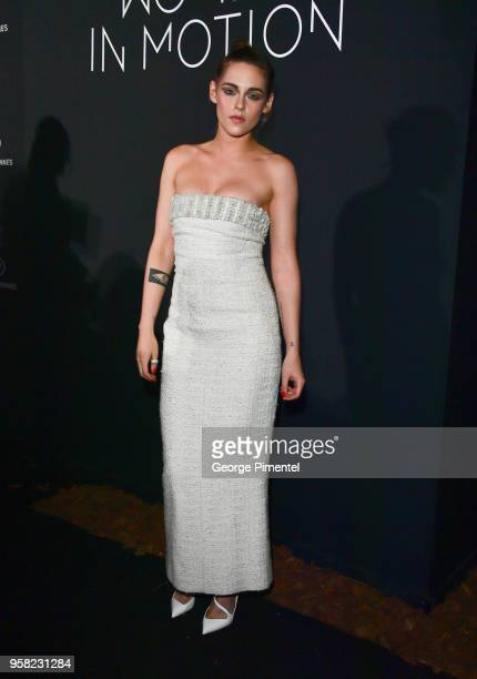 Kristen Stewart attends the Kering Women In Motion dinner during the 71st annual Cannes Film Festival at Place de la Castre on May 13, 2018 in...