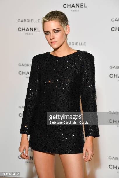 Kristen Stewart attends the launch party for Chanel's new perfume Gabrielle as part of Paris Fashion Week on July 4 2017 in Paris France