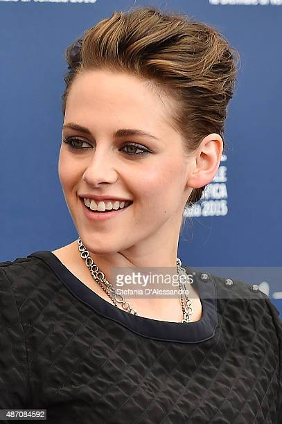 Kristen Stewart attends the photocall of 'Equals' during the 72nd Venice Film Festival at Sala Grande on September 5 2015 in Venice Italy