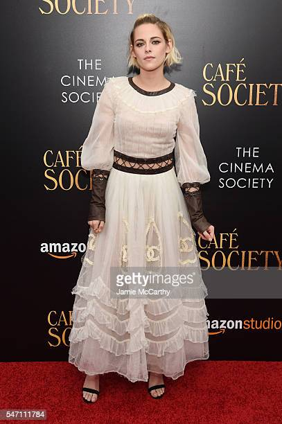 Kristen Stewart attends the premiere of Cafe Society hosted by Amazon Lionsgate with The Cinema Society at Paris Theatre on July 13 2016 in New York...