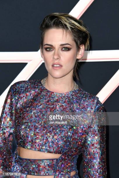 "Kristen Stewart attends the premiere of Columbia Pictures' ""Charlie's Angels"" at Westwood Regency Theater on November 11, 2019 in Los Angeles,..."