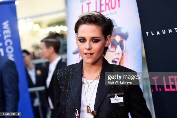 "Kristen Stewart attends the LA premiere of Universal Pictures' ""J.T. Leroy"" at ArcLight Hollywood on April 24, 2019 in Hollywood, California."