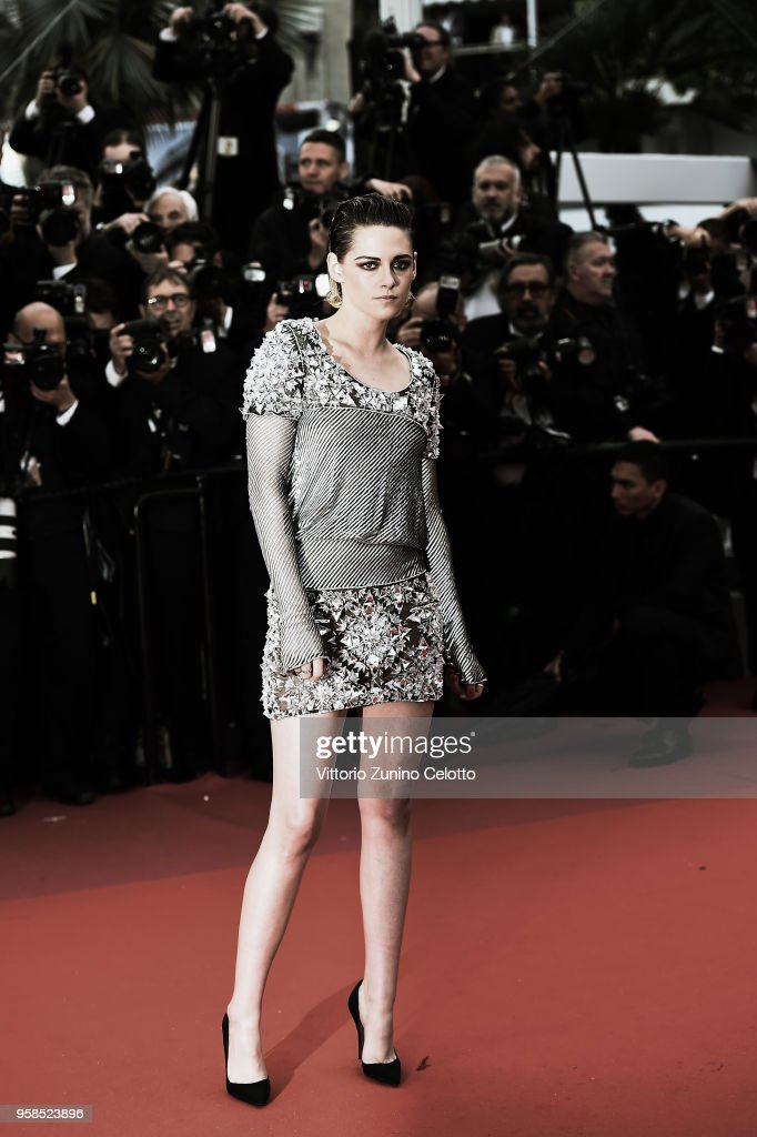 Kristen Stewart attends the screening of 'BlacKkKlansman' during the 71st annual Cannes Film Festival at Palais des Festivals on May 14, 2018 in Cannes, France.
