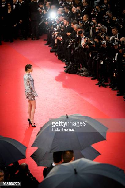 Kristen Stewart attends the screening of 'BlacKkKlansman' during the 71st annual Cannes Film Festival at Palais des Festivals on May 14, 2018 in...