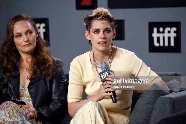"""Kristen Stewart attends the """"Seberg"""" press conference during the 2019 Toronto International Film Festival at TIFF Bell Lightbox on September 08, 2019..."""