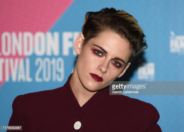 Kristen Stewart attends the Seberg screening during the 63rd BFI London Film Festival at BFI Southbank on October 04 2019 in London England