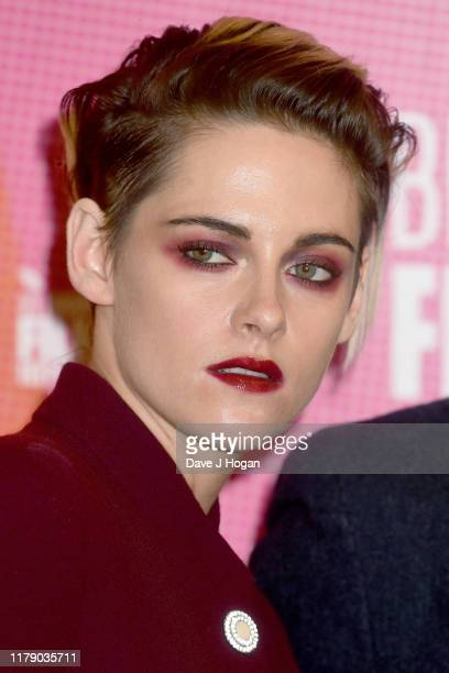 """Kristen Stewart attends the """"Seberg"""" screening during the 63rd BFI London Film Festival at BFI Southbank on October 04, 2019 in London, England."""