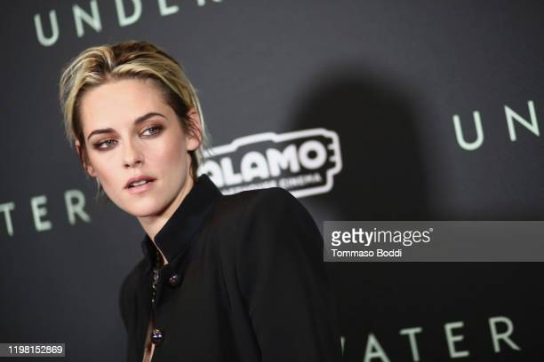 """Kristen Stewart attends the Special Fan Screening Of 20th Century Fox's """"Underwater"""" at Alamo Drafthouse Cinema on January 07, 2020 in Los Angeles,..."""