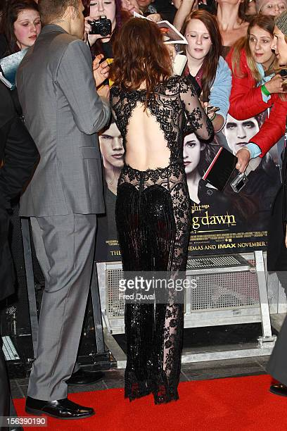 Kristen Stewart attends The Twilight Saga Breaking Dawn Part Two UK film premiere at Odeon Leicester Square on November 14 2012 in London England