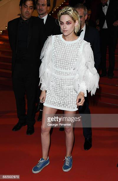 Kristen Stewart departs from the 'Personal Shopper' premiere during the 69th annual Cannes Film Festival at the Palais des Festivals on May 17 2016...