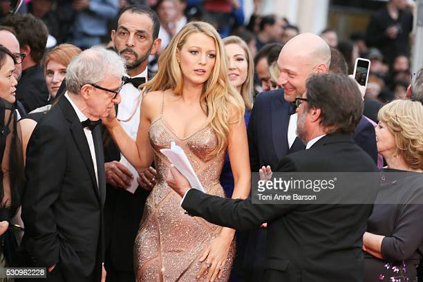 Kristen Stewart, director Woody Allen, Blake Lively and Corey Stoll attend the 'Cafe Society' premiere and the Opening Night Gala during the 69th...