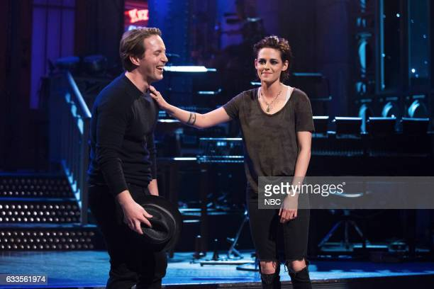 LIVE Kristen Stewart Episode 1717 Pictured Beck Bennett with host Kristen Stewart on January 31 2017